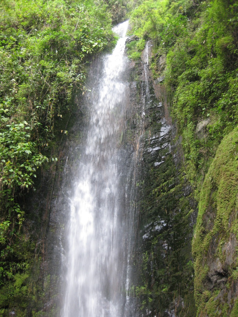 The beautiful Vilcabamba waterfall